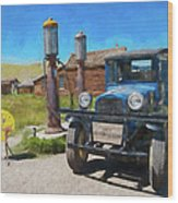 Bodie California Ghost Town Old Vintage Dodge Truck Ap Wood Print