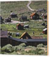 Bodie Ghost Town Panorama Wood Print