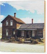 Bodie Houses Wood Print