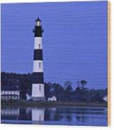 Bodie Island Lighthouse At Dusk - Fs000607 Wood Print