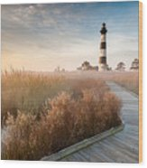 Bodie Island Lighthouse Cape Hatteras National Seashore North Carolina Wood Print