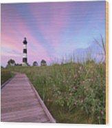 Bodie Island Obx Sunrise Wood Print