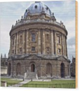 Bodlien Library Radcliffe Camera Wood Print by Jane Rix