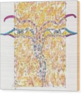 Bodnath Wood Print