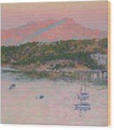 Bodrum.pink Sunrise Wood Print
