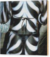 Body Stripes Wood Print
