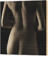 Bodyscape From Behind Wood Print