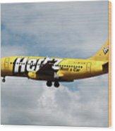 Boeing 737-204 Ryanair Wood Print