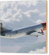 Boeing 737 Norwegian Air Wood Print