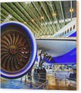 Boeing 787 Exterior Wood Print