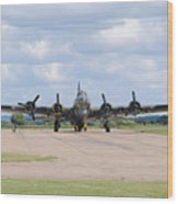 Boeing B-17 Flying Fortress Sally B Wood Print