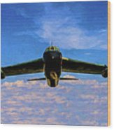 Boeing B-52 Stratofortress Oil Wood Print