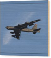 Boeing B-52 Stratofortress Taking Off From Tinker Air Force Base Oklahoma With Quadruple Border Wood Print