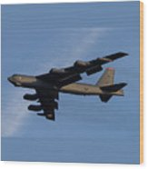 Boeing B-52 Stratofortress Taking Off From Tinker Air Force Base Oklahoma With Double Border Wood Print