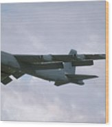 Boeing B-52g Stratofortress 58-0214 93rd Bomb Wing Castle Afb September 17 1992  Wood Print