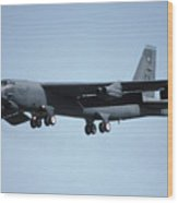 Boeing B-52g Stratofortress 58-0258 93rd Bomb Wing Castle Afb September 17 1992 Wood Print