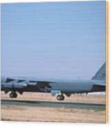 Boeing B-52g Stratofortress 59-2588 93rd Bomb Wing Castle Afb October 24 1993 Wood Print