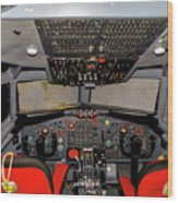 Boeing C-135 Cockpit Wood Print