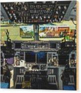 Boeing C-17 Globemaster IIi Cockpit Wood Print