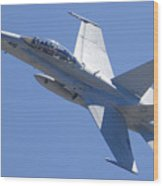 Boeing-mcdonnell-douglas Fa-18f Super Hornet 446 Of Vfa-125 Rough Raiders  Wood Print