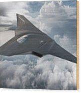 Boeing Next Gen Fighter Concept Wood Print