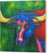 Boerne Longhorn Wood Print