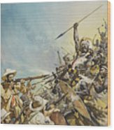 Boers Fighting Natives Wood Print
