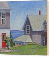Bogdanov House Monhegan Wood Print by Thor Wickstrom