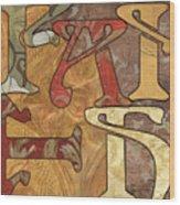 Bohemian Faith Wood Print by Debbie DeWitt