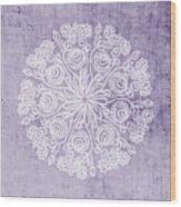 Boho Floral Mandala 1- Art By Linda Woods Wood Print