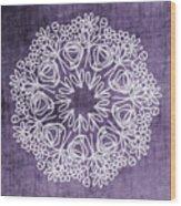 Boho Floral Mandala 2- Art By Linda Woods Wood Print