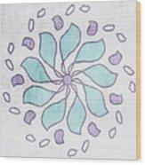 Boho Floral Mandala 4- Art By Linda Woods Wood Print
