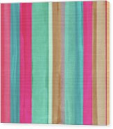 Boho Stripe- Art By Linda Woods Wood Print