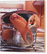 Boiled Crab Wood Print
