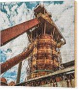 Boiler At Sloss Furnaces Wood Print