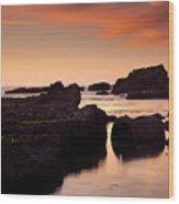 Boiler Bay Sunset Wood Print