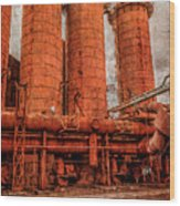 boilers at Sloss Wood Print