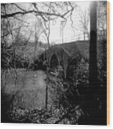 Boiling Springs Bridge Wood Print