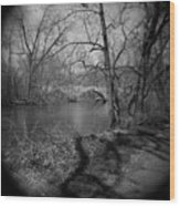 Boiling Springs Stone Bridge Wood Print