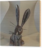 Boink Rabbit Wood Print
