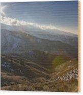 Boise Ridge Wood Print