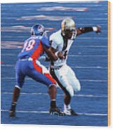 Boise State Great Gerald Alexander Wood Print
