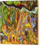 Boisterous Bellows Of Colors Wood Print