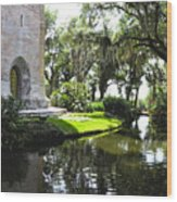 Bok Tower With Moat Wood Print