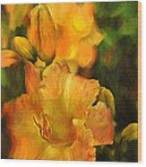 Bokah Lily Wood Print
