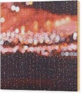 Bokeh - Rainy Night On Mercer Street Wood Print
