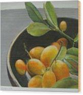 Bol de Kumquats Wood Print