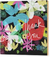 Bold Floral Thank You Card- Design By Linda Woods Wood Print