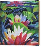 Bold Lilypads Wood Print