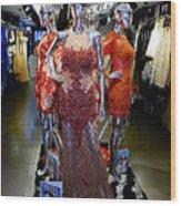 Bold Mannequins Fashion Display In Palma Majorca Spain Wood Print